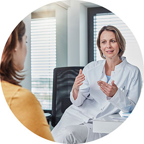 woman speaking to her doctor